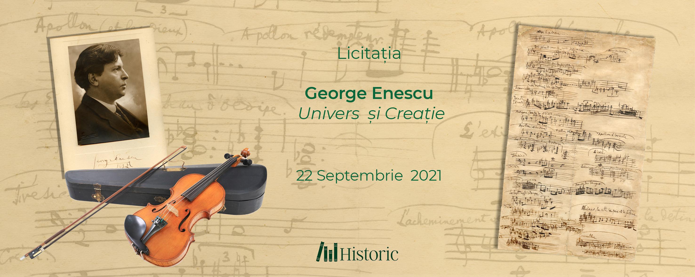 Licitația George Enescu - Univers si Creatie