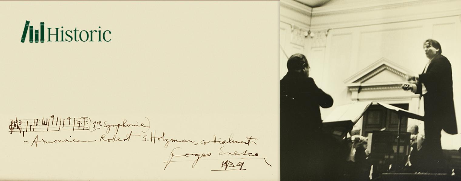 Licitația George Enescu - Muzică și Vocație