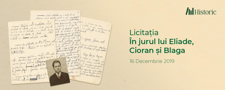 Licitația În jurul lui Eliade, Cioran și Blaga