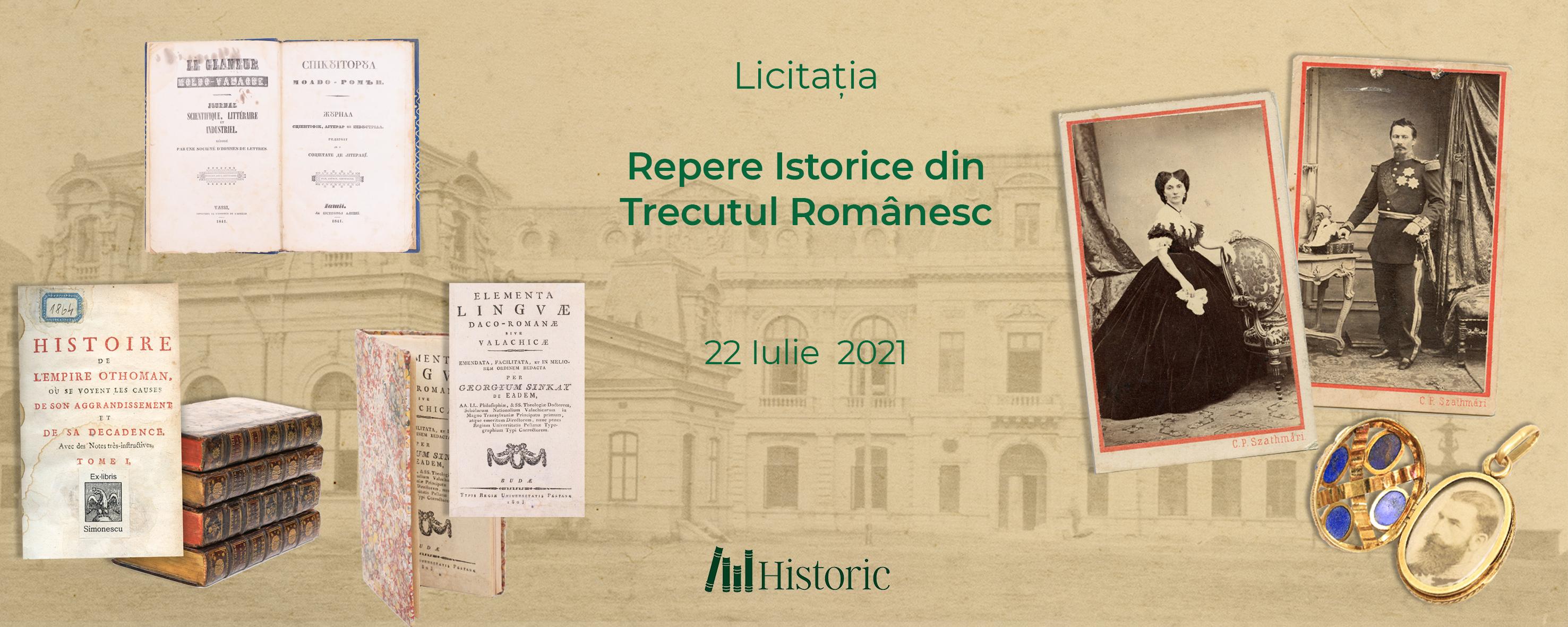 Licitatia Repere istorice din trecutul romanesc
