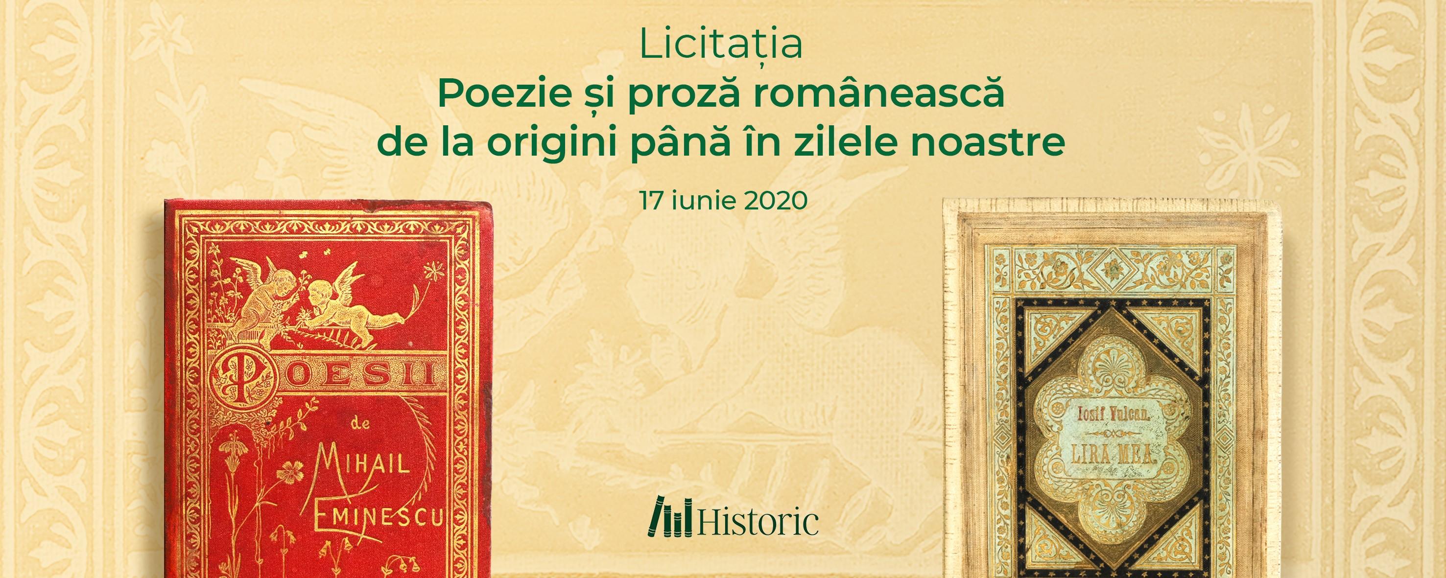 Licitatia poezie și proza românească de la începuturi pînă în zilele noastre.