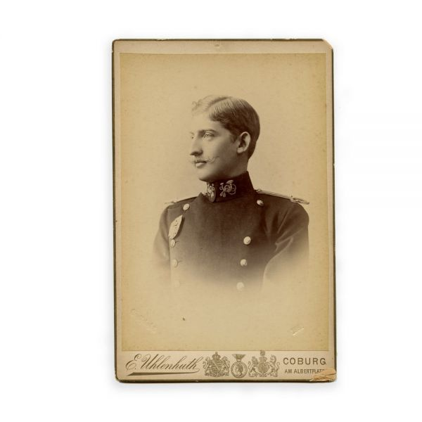 Principele moștenitor Ferdinand, fotografie de cabinet, atelier E. Uhlenhuth