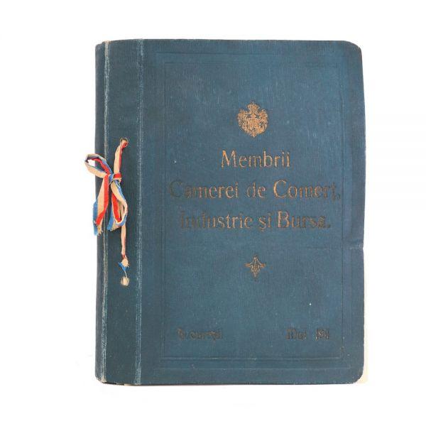 Album - Membrii Camerei de Comerț, Industrie și Bursă, 1911