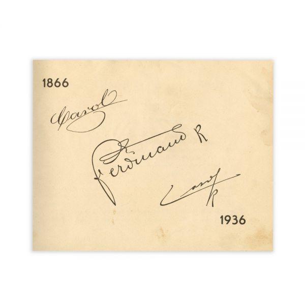 Album - Carol I, Ferdinand I, Carol II, 1866-1936