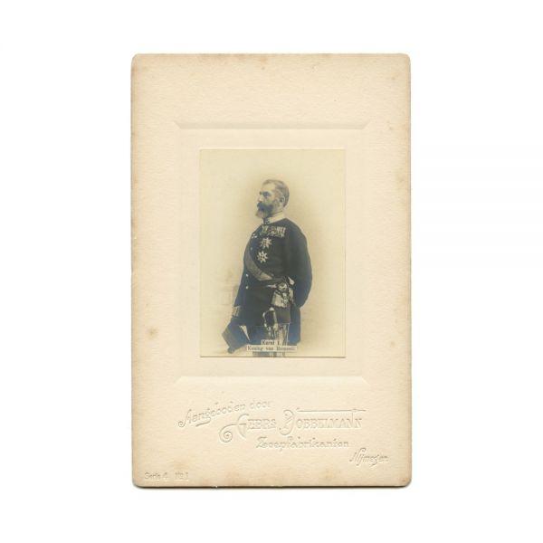 Regele Carol I, fotografie de epocă, atelier Gebr Dobbelmann