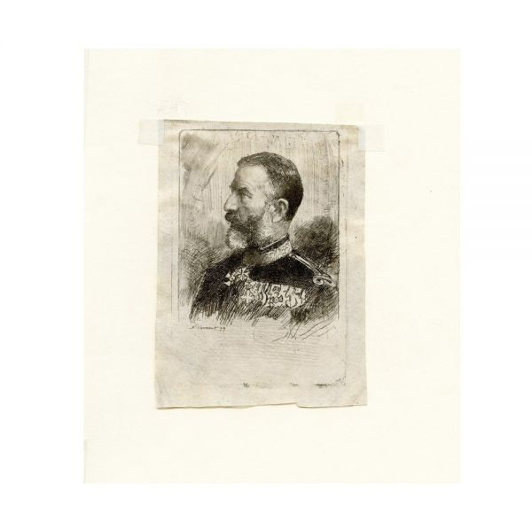 N. Vermont, gravură, Regele Carol I, 1899