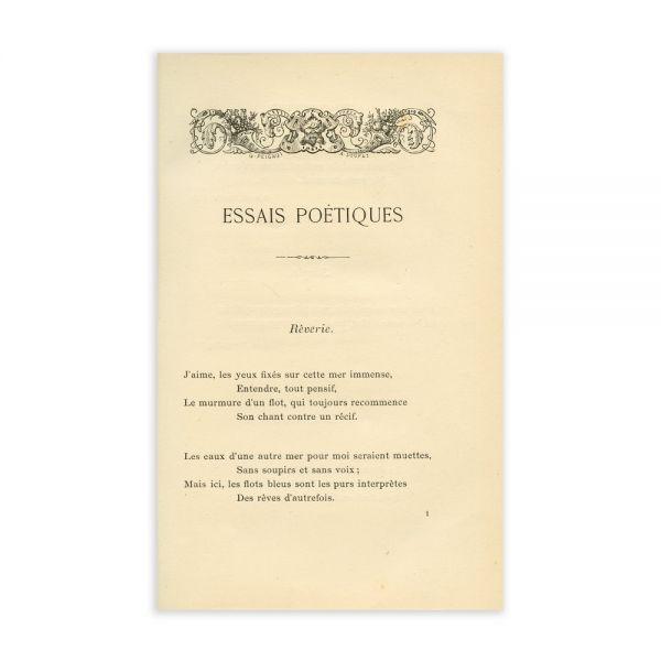 S. de Biram, Essais Poétiques, 1889, exemplarul principesei Maria a României