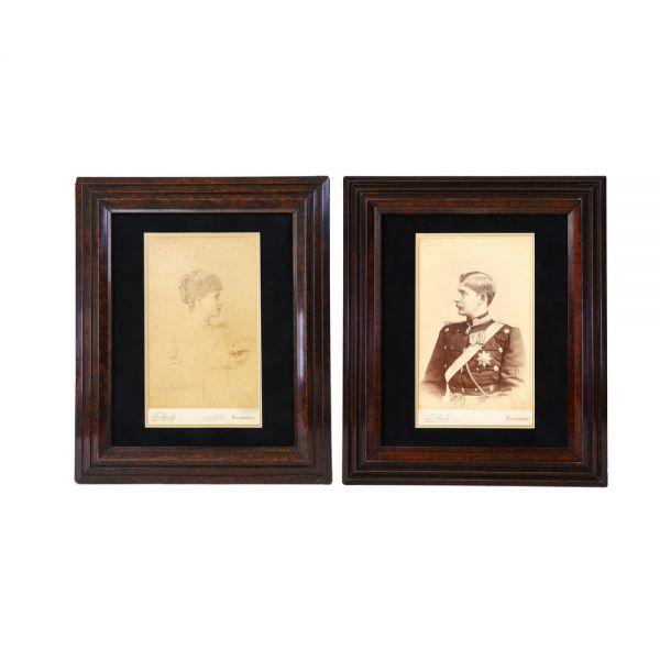 Set de două fotografii, principesa Maria și principele moștenitor Ferdinand al României, atelier Franz Mandy