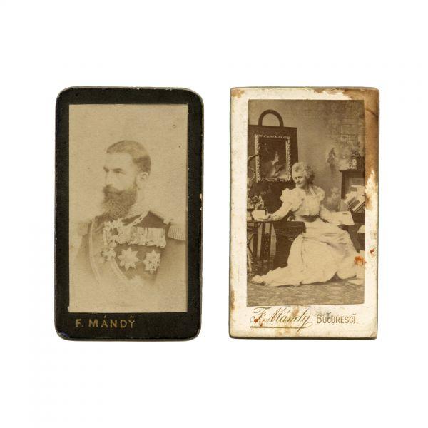 Regele Carol I și Regina Elisabeta, fotografii în miniatură, atelier Franz Mandy
