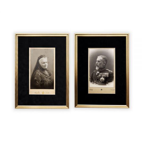 Perechea regală Carol I și Elisabeta, fotografii, atelier Franz Mandy, cca. 1912
