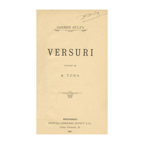 Carmen Sylva, Versuri, cu autograful traducătorului