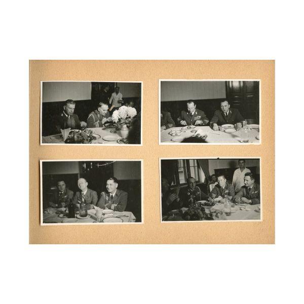 Masa comună a noilor comandori aviatori, 1943, album fotografic