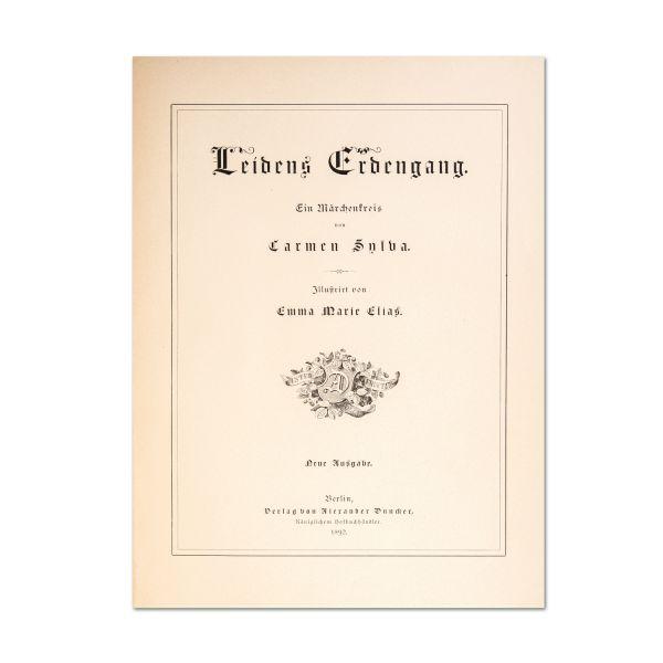 Carmen Sylva, Leidens Erdengang, cu o însemnare olografă, 1893