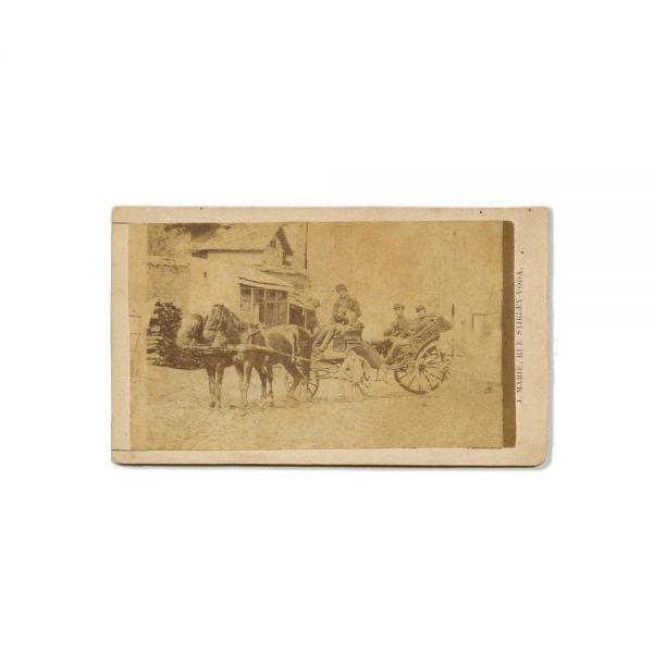 Vizitiu pe Știrbei Vodă, fotografie de epocă, cca. 1870