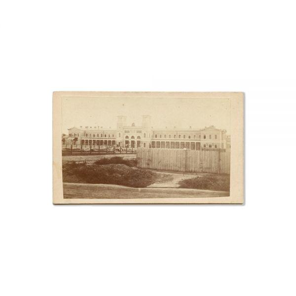 Gara București, fotografie inedită, atelier A. D. Reiser, cca. 1870