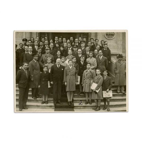Marele Voevod de Alba-Iulia, Mihai, și clasa palatină, fotografie de grup