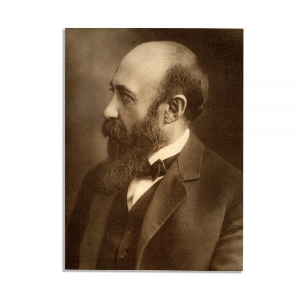 Nicolae Iorga, heliogravură + bilet olograf