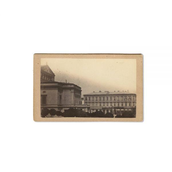 Casa Torok și Piața Teatrului, fotografie de epocă, atelier M. Baer, cca. 1870