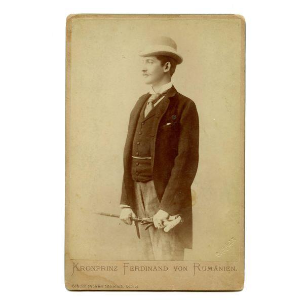 Kronprinz Ferdinand von Rumanien, atelier Prof. E. Uhlenhuth, piesă rară