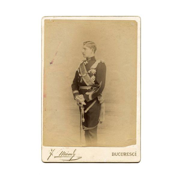 Principele moștenitor Ferdinand al României, fotografie de epocă, atelier F. Mandy, cca. 1890