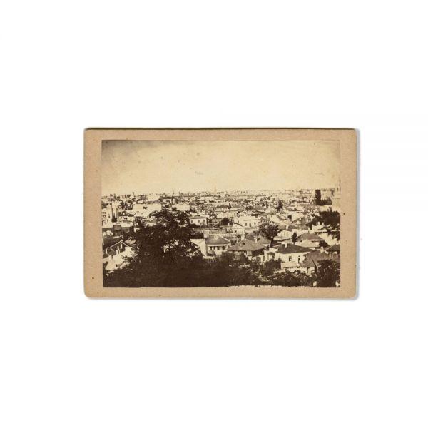 Trei fotografii panoramice ale Bucureștiului, atelier M. Baer, cca. 1870