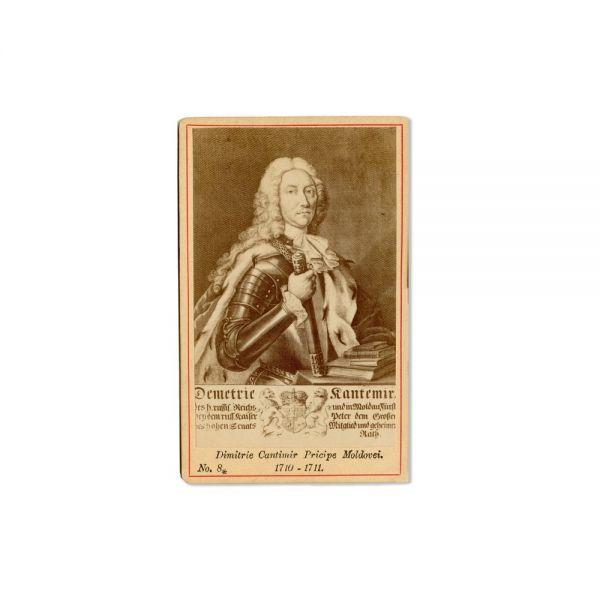 Dimitrie Cantemir, două fotografii după gravura din 1734, atelier Schragar și Jacob-Cerkez