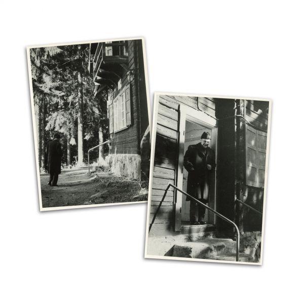 Constantin Noica la Păltiniș, două fotografii