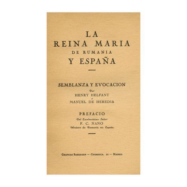 Henry Helfant, Regina Maria a României și Spaniei, 1940