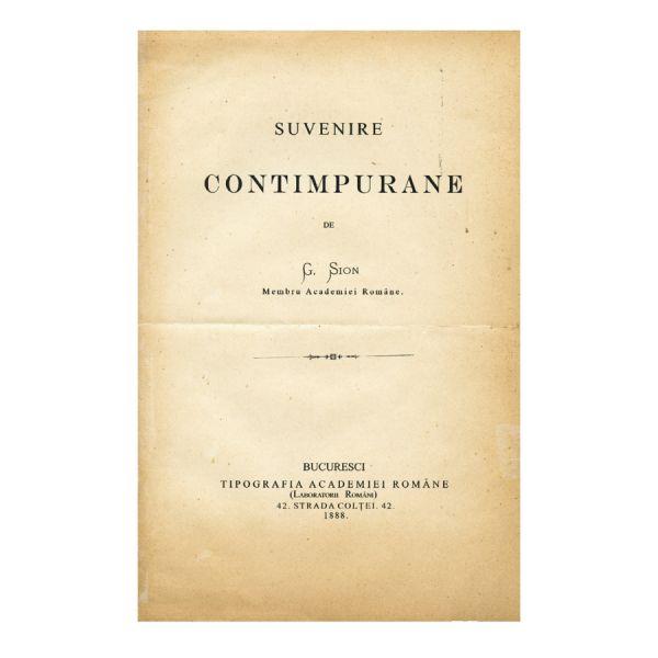 G. Sion, Suvenire comtemporne, ediția a I-a