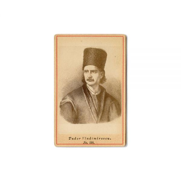 Mihai Viteazul și Tudor Vladimirescu, două fotografii format carte-de-visite, atelier Frații Șaraga