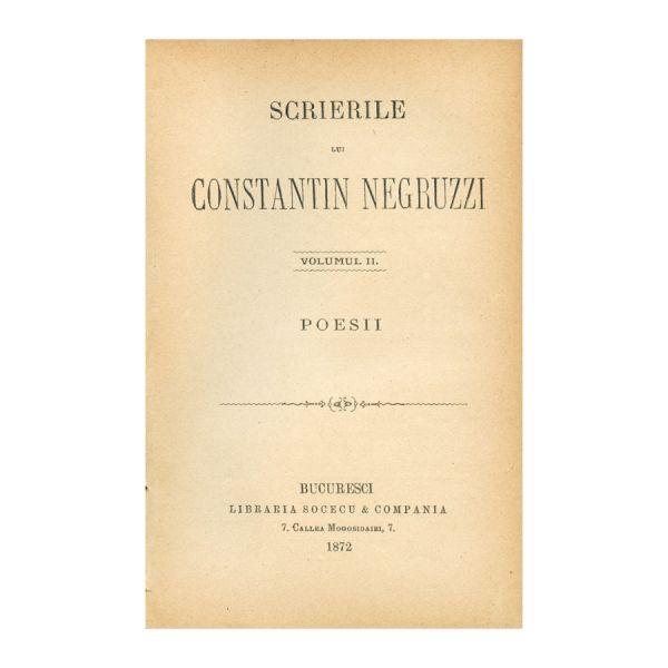 Scrierile lui Constantin Negruzzi, colligat 3 volume