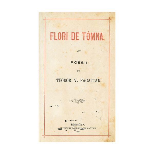 Teodor V. Pacatian, Flori de toamnă, cu dedicație