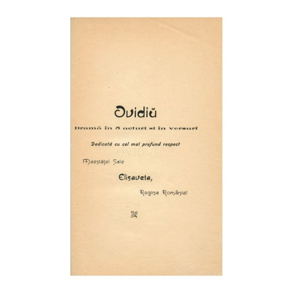 Vasile Alecsandri, Ovidiu