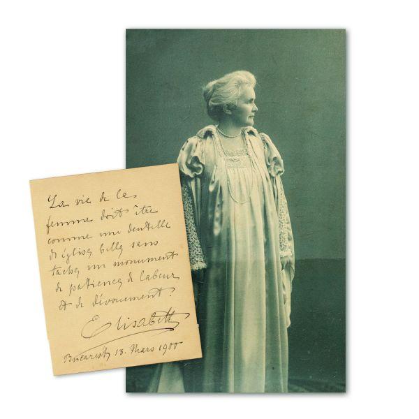 Regina Elisabeta, fotografie + bilet olograf