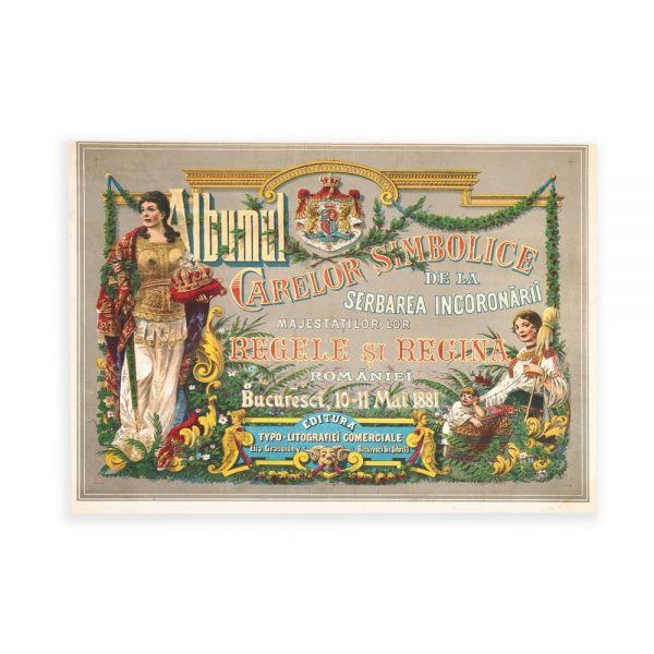 Coperta Albumului Carelor Simbolice, cromolitografie pe mătase, 1881