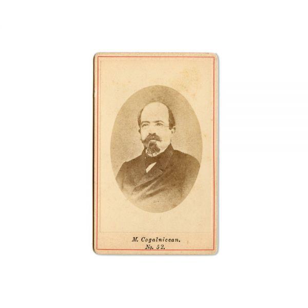 C.A. Rosetti și Mihail Kogălniceanu, două fotografii format carte-de-visite, atelier Frații Șaraga