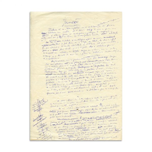 Constantin Noica, Jurnal XVI, manuscris de 3 pagini