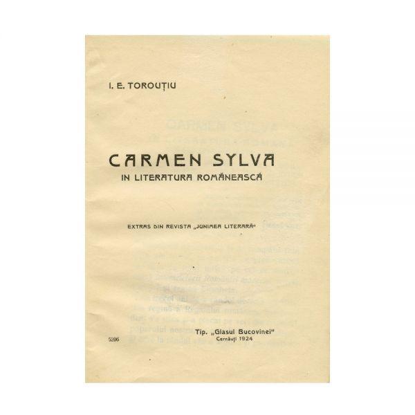 I.E. Torouțiu, Carmen Sylva în literatura românească, 1924