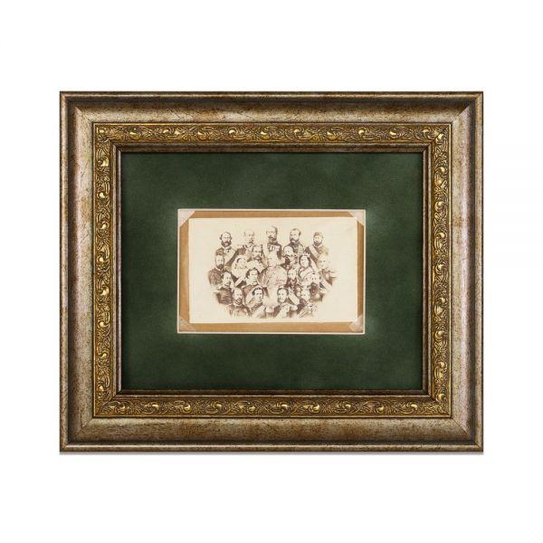 Capetele încoronate ale Europei, fotografie de epocă, cca. 1868