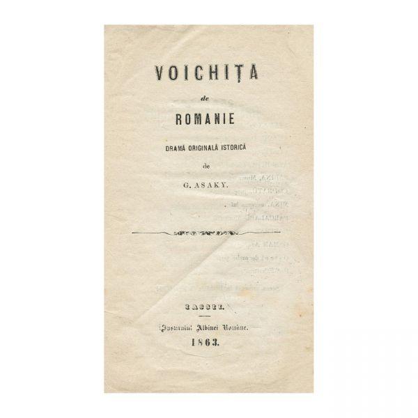 Gheorghe Asaky, Voichița de Romanie, 1863