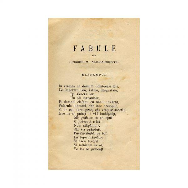 G. S. Petrini, Colecțiune de Fabule Române, 1880