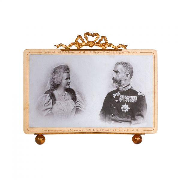 Regele Carol I și Regina Elisabeta, fotografie de epocă