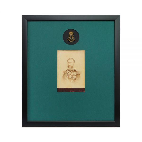 Regele Carol I, fotografie de cabinet, atelier Franz Mandy