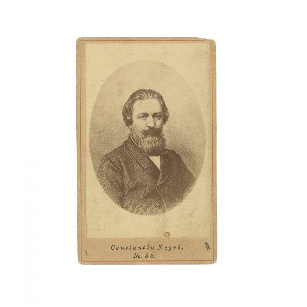 Costache Negri, fotografie de epocă, atelier, Editura Frații Șaraga