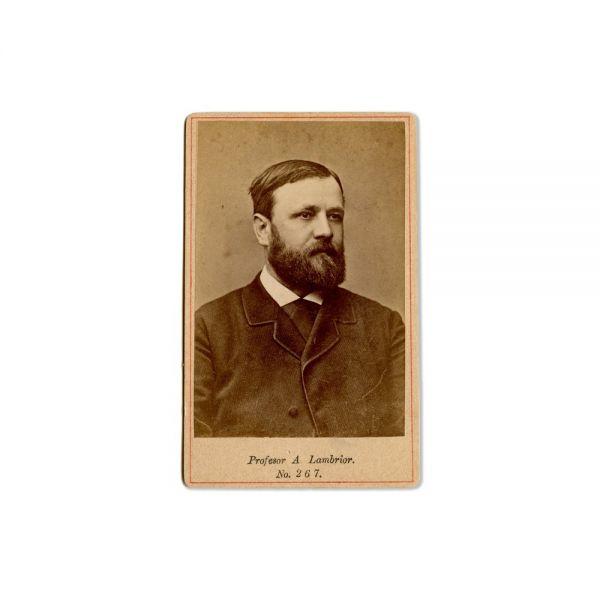 A. Lambrior, E. Hurmuzaki, V. Calcantraur, P. Cradișteanu, Dincu Skiller, 5 fotografii tip carte-de-visite