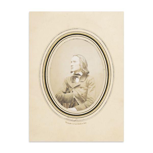 Franz List, fotografie, cca. 1860