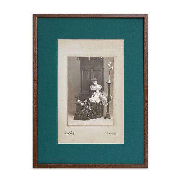 Set de două fotografii, Principesa Maria împreună cu prințesa Mărioara + principele moștenitor Ferdinand, atelier Franz Mandy