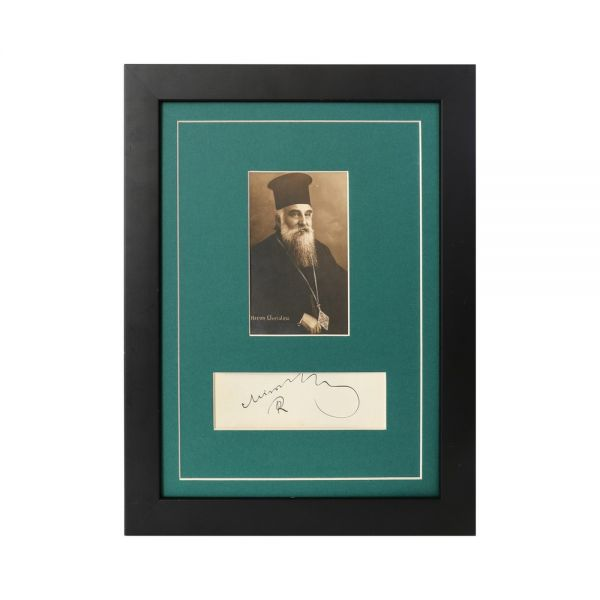 Patriarhul Miron Cristea, carte poștală fotografică + semnătură olografă