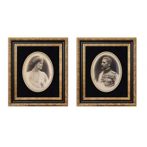 Regele Ferdinand I și Regina Maria, set de două fotografii de mari dimensiuni, cu semnătura atelierului fotografic Julietta, 1922