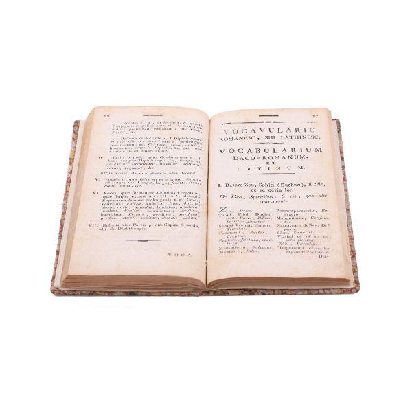 Gheorghe Șincai, Elementa Linguae Daco-Romanae, Buda, 1805 - Piesă rară